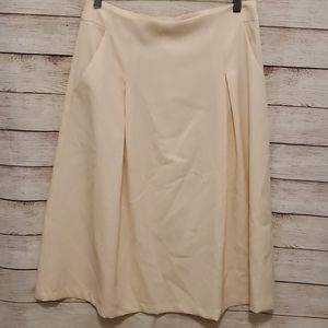 BLVD Cream fit and flair skirt